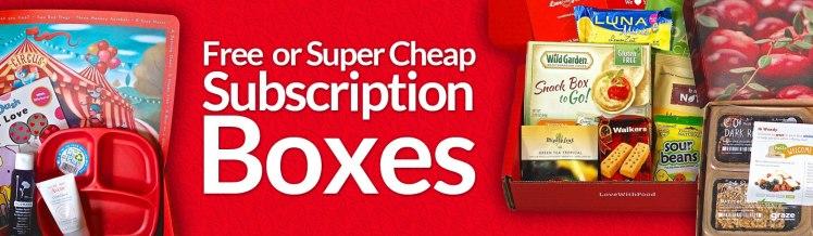 Free Subscription Box List Update February 2016