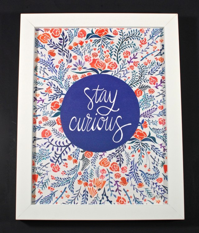 Stay Curious print