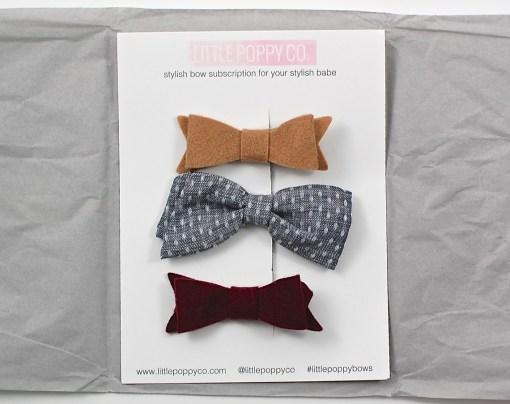 Little Poppy bows