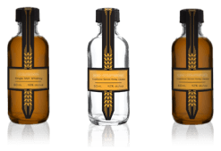 50ml samples of 3 spirits