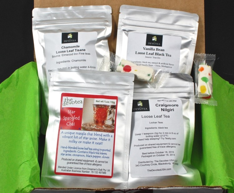 The Devotea USA Tea of The Month Club October 2015 Review