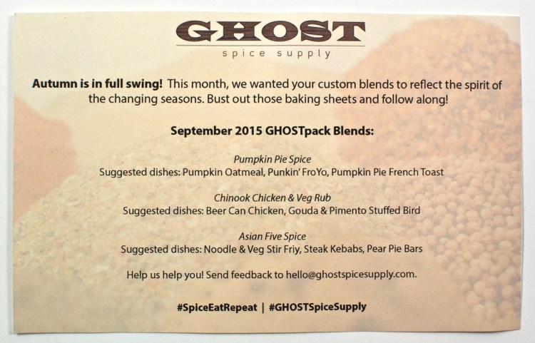 GHOSTpack September