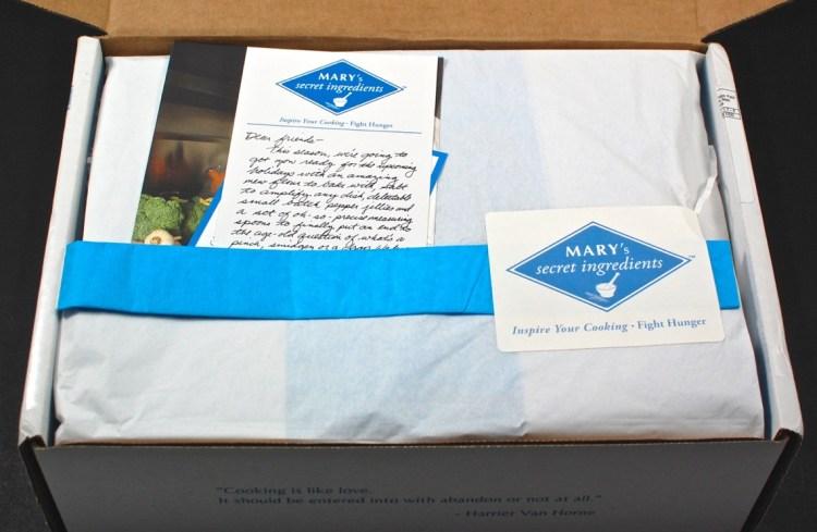 Mary's Secret Ingredients box