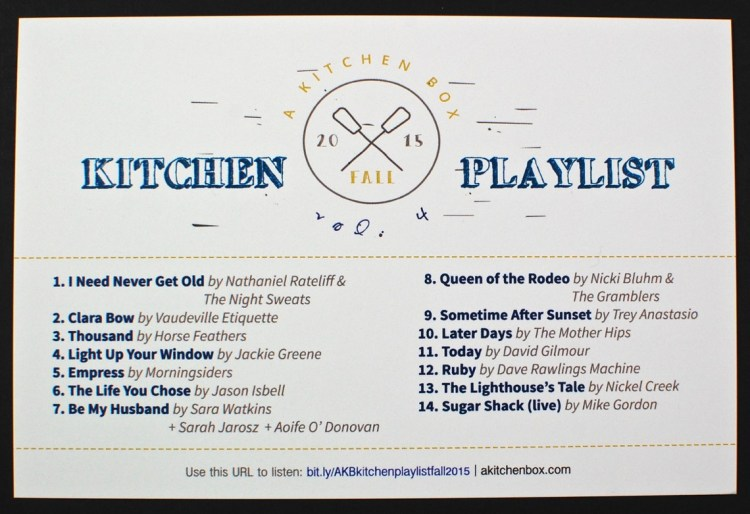 A Kitchen Box playlist
