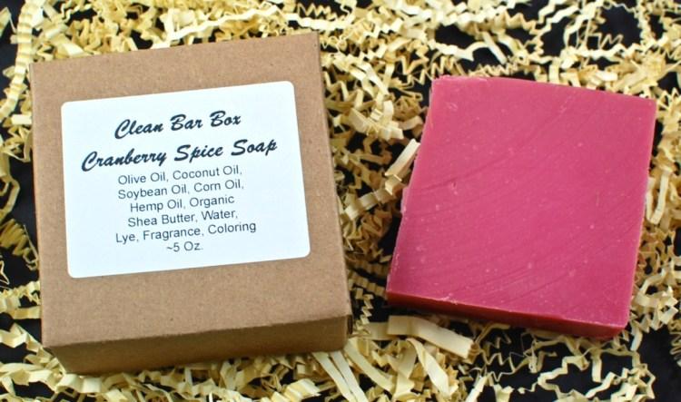 cranberry spice soap