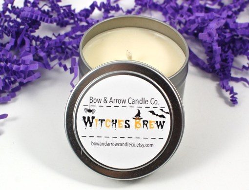 Witches' brew candle