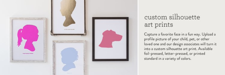 minted silhouette prints
