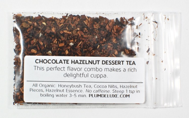 chocolate hazelnut tea