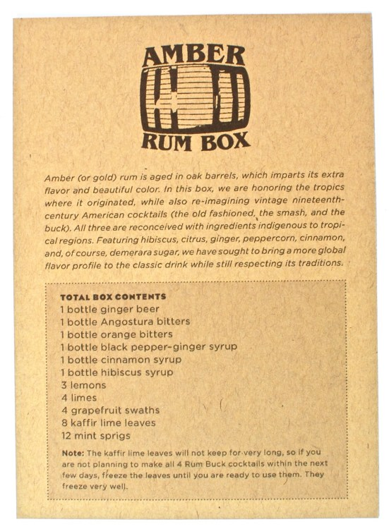 Shaker & Spoon rum box