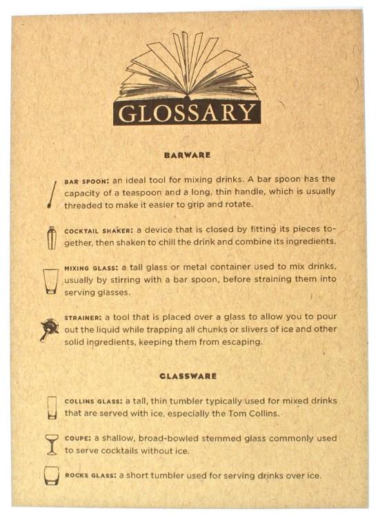 Shaker & Spoon glossary