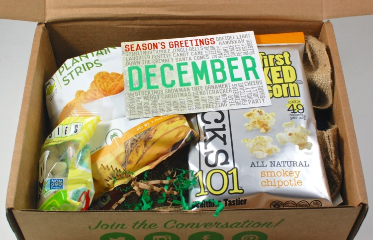 December Snack Sack box