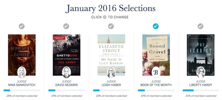 January 2016 Book of the Month