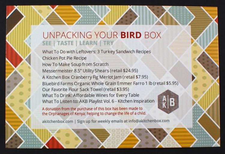 A Kitchen Box bird box
