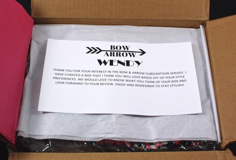Bow & Arrow box