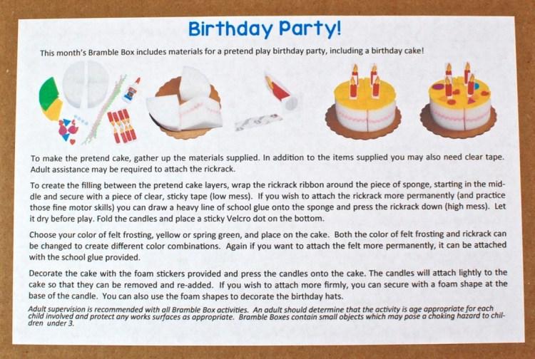 Bramble Box birthday party