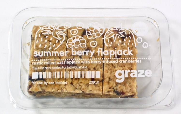 Graze summer berry flapjack