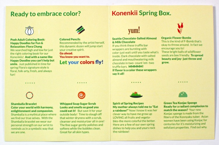 Konenkii spring 2016 box