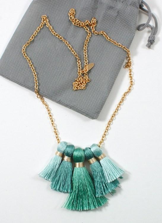 POPSUGAR tassel necklace