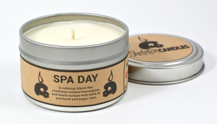 Skeleton Candles Spa Day