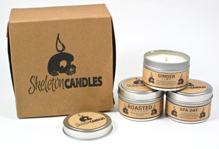 Skeleton Candles March 2016 Subscription Box Review & Coupon