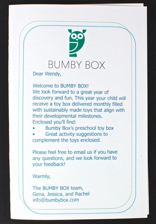 April 2016 Bumby Box