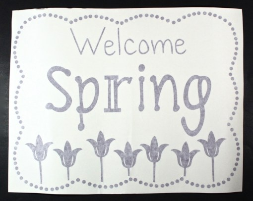 Welcome Spring decal
