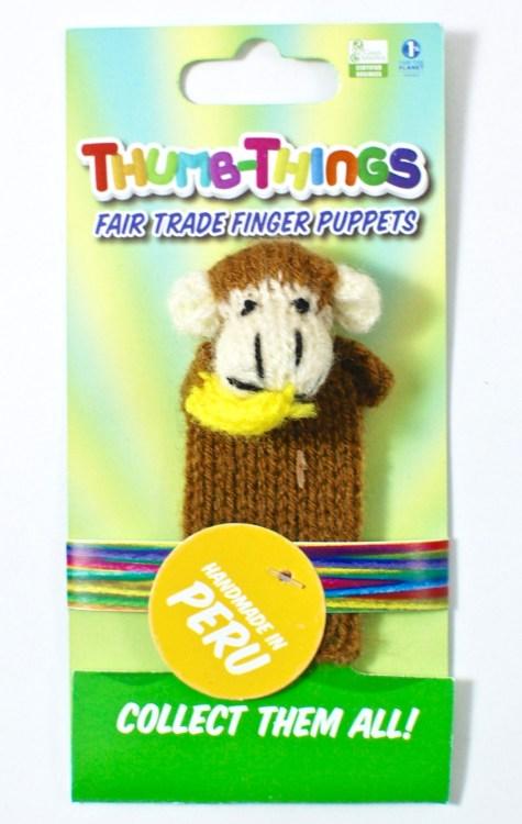monkey finger puppet