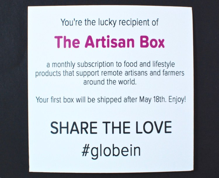GlobeIn artisan box review