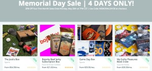 Cratejoy Memorial Day Sale – 30% Off 100+ Subscription Boxes