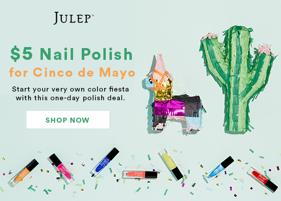 Julep $5 Polish One Day Sale & 20% Coupon Code
