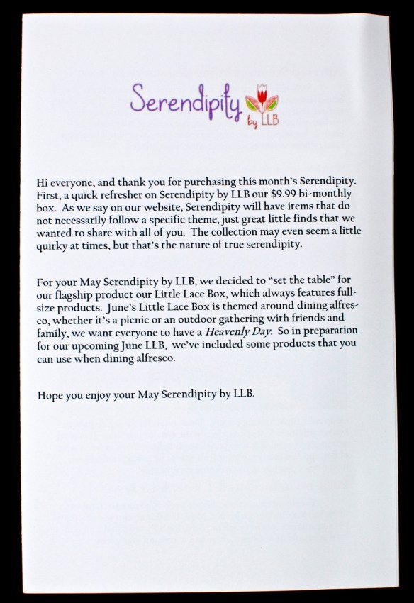 Serendipity by Little Lace Box review