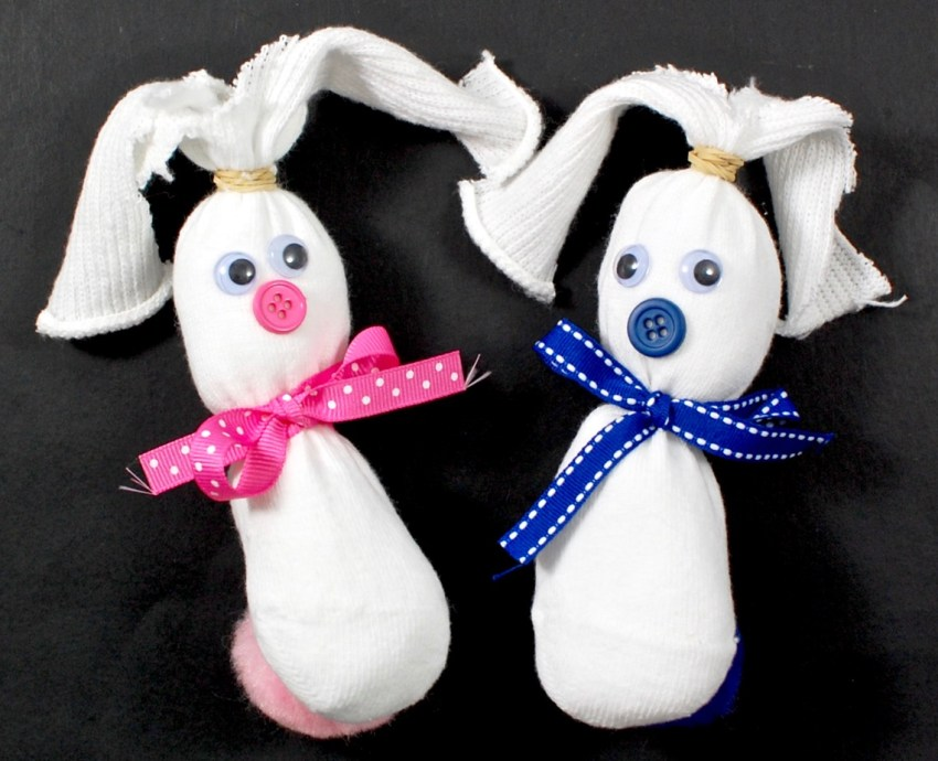 bunny sock craft