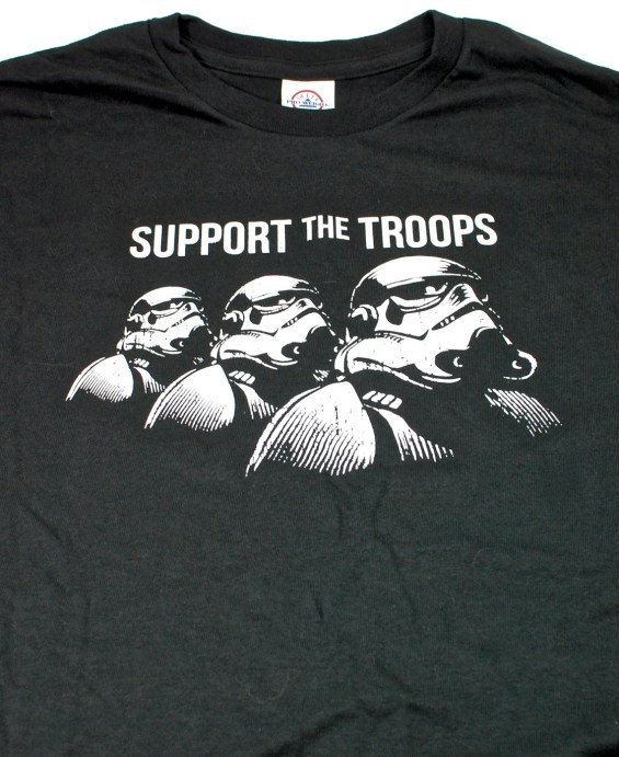 Star Wars support the troops t-shirt