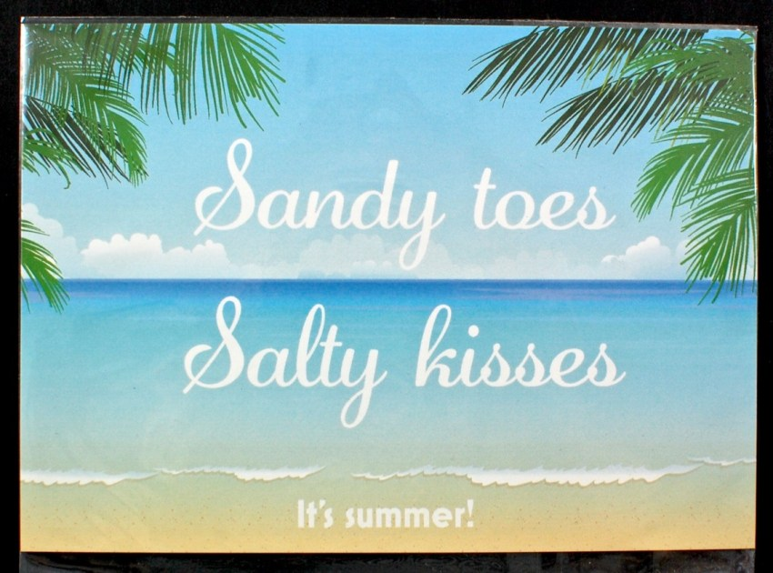 sandy toes, salty kisses print