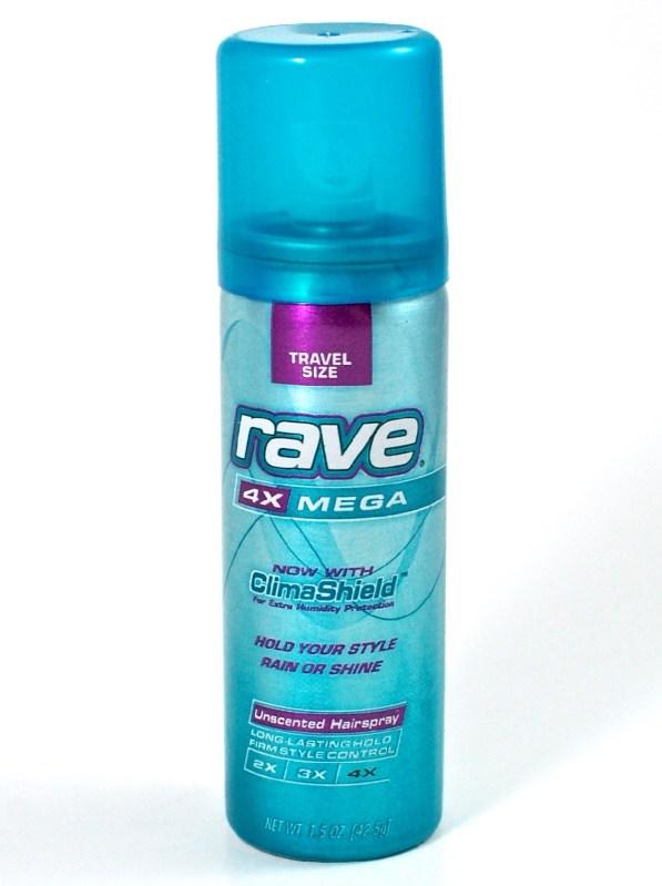 Rave hairspray