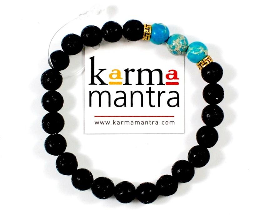 karma mantra lava bracelet
