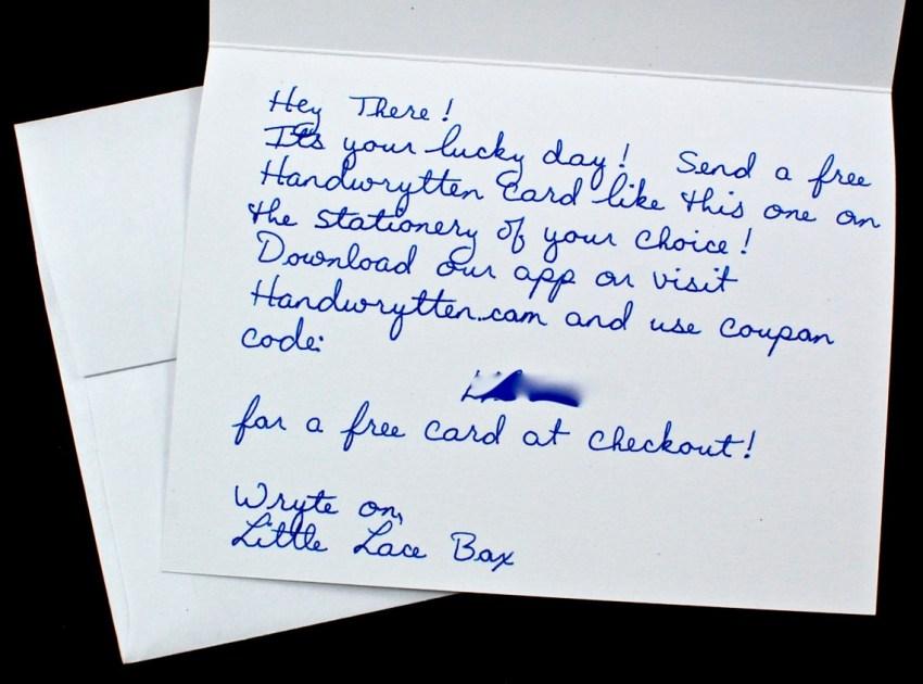 handwrytten card