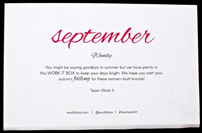 September Work it Box