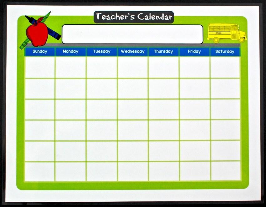 teacher's calendar