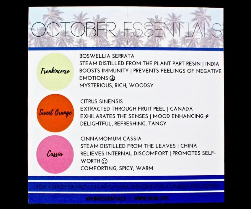 October Honi Essentials review