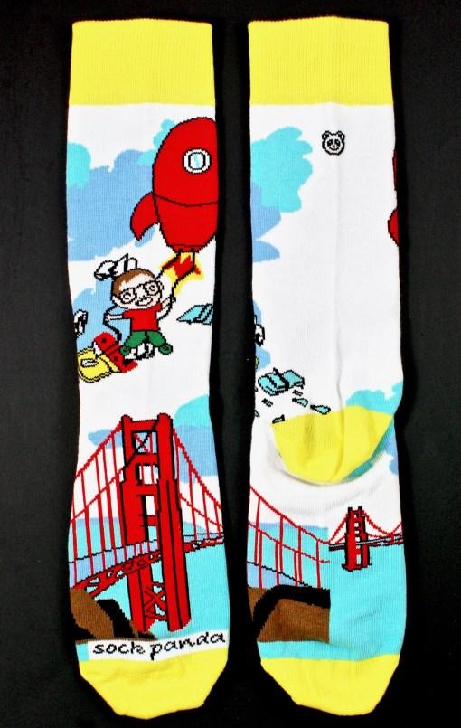 Sock Panda rocket socks
