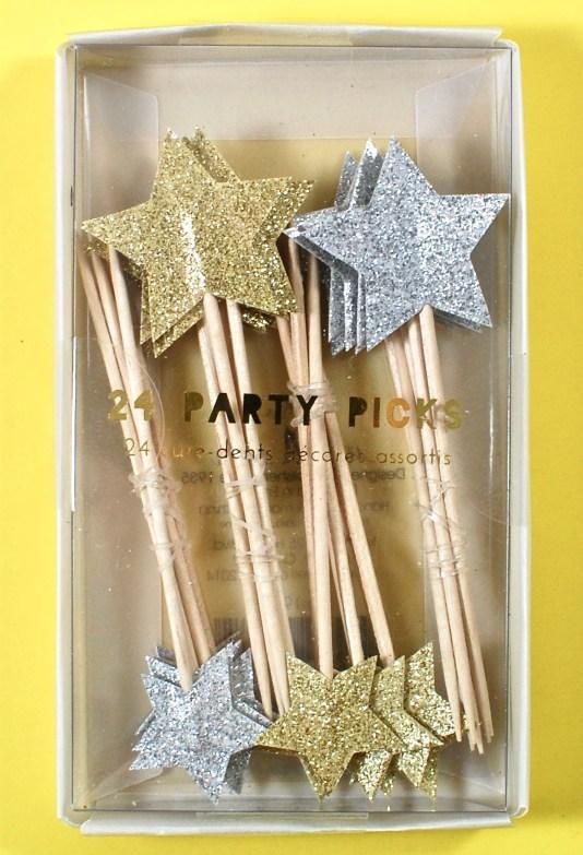 Meri Meri star party sticks