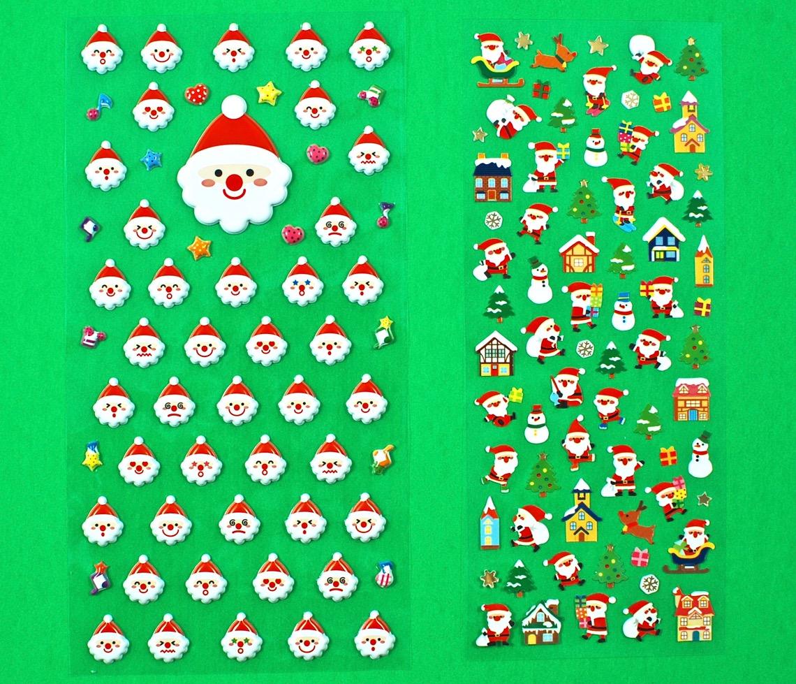 puffy santa stickers