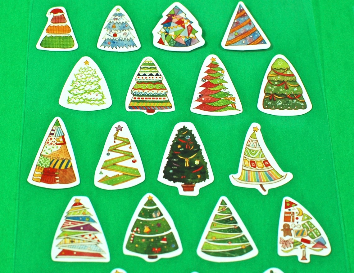 christmas tree stickers