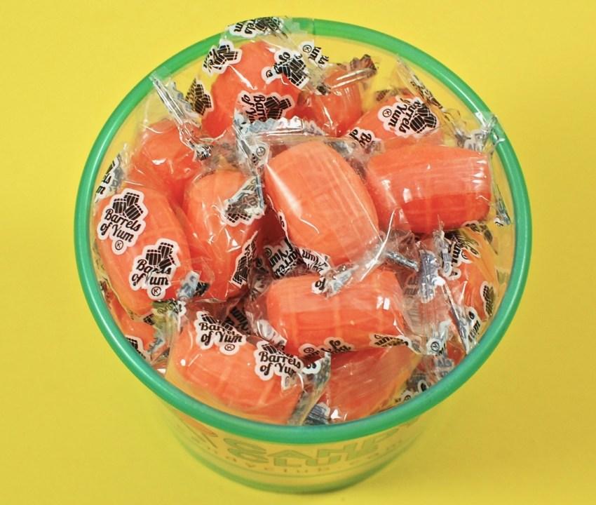 Barrels of Yum candy