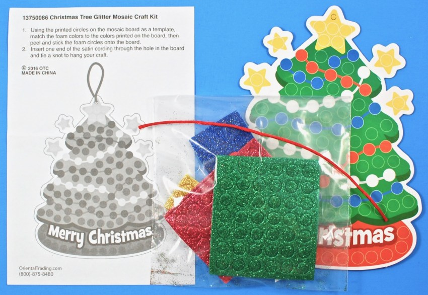 Christmas mosaic tree craft