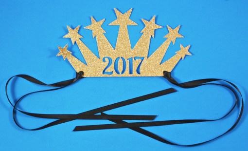 2017 glitter crown