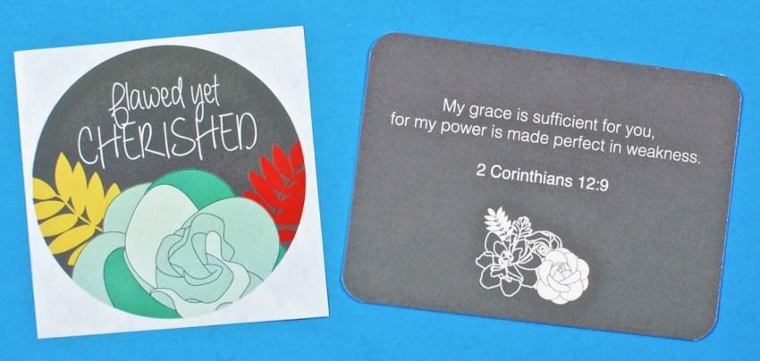 Loved + Blessed sticker
