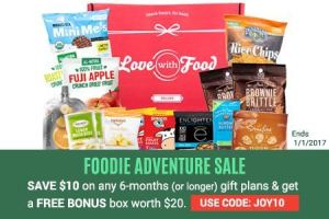 Love With Food $10 Coupon Code + FREE Bonus Box