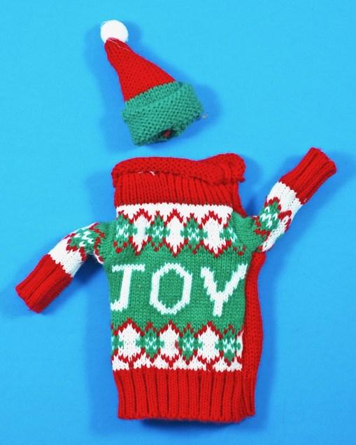 wine bottle ugly christmas sweater
